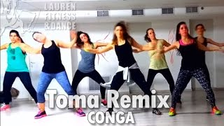 Zumba ® fitness class with Lauren- Pitbull Toma Remix CONGA