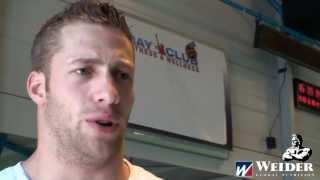 WEIDER Athlet Tim Budesheim trainiert Rücken & Beinbeuger