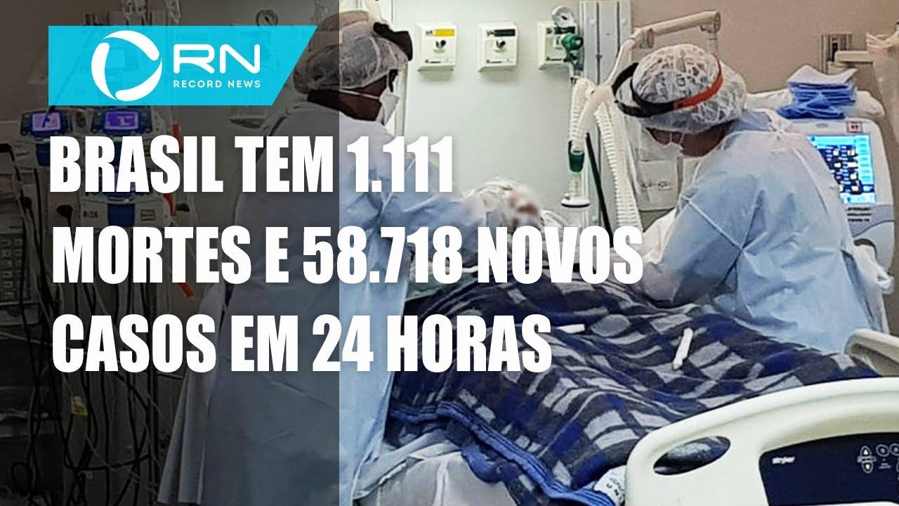 Brasil tem 7.563.551 casos confirmados e 192.681 mortes por coronavírus