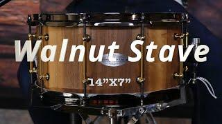 14x7 Walnut Stave Snare drum by Zebra drums (sound examples)