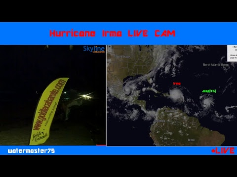 Hurricane Irma LIVE WEBCAM | Kite Beach - Dominican Republic | STRENGTHENS TO CAT 5