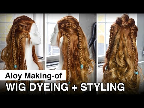 Aloy Cosplay Making of - Wig dyeing + styling