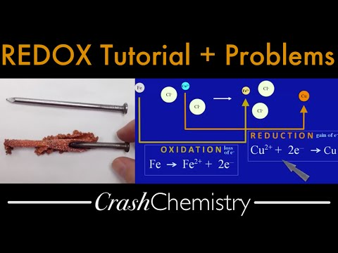 REDOX Reactions tutorial + review problems: Oxidation Reduction; Electron Transfer | Crash Chemistry