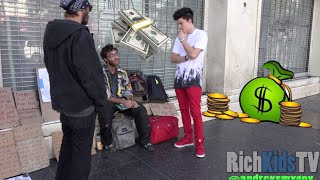 Repeat youtube video Giving out $30,000 CASH to the Homeless!!