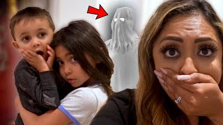 THERE'S A GHOST IN OUR HOUSE! WE CAUGHT IT ON CAMERA!