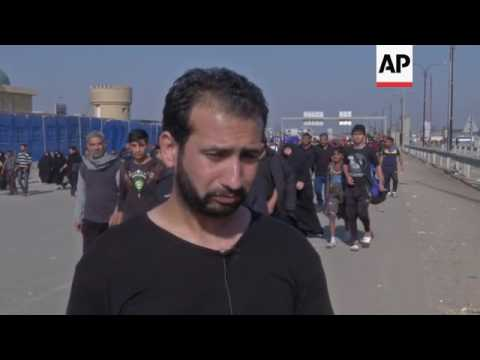 Shiite pilgrims head for holy city by foot