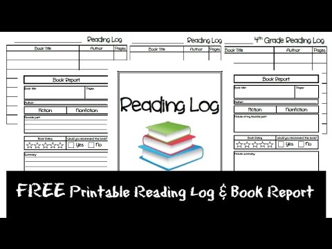 FREE Printable Reading Log & Book Reports!