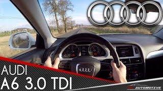 Audi A6 3.0 TDI Quattro POV Test Drive + Acceleration 0 - 200 km/h