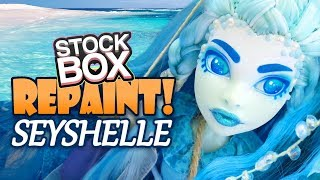 STOCK BOX Repaint! Seyshelle Oceanic Monster High Custom OOAK Doll