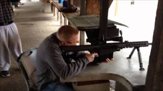 Barrett .50 cal Sniper kicks like a mule