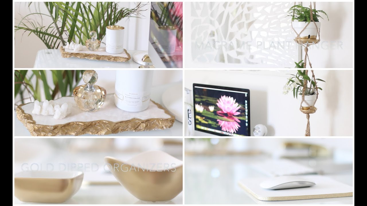 Diy desk home office decor ideas youtube for Home office wall decor ideas
