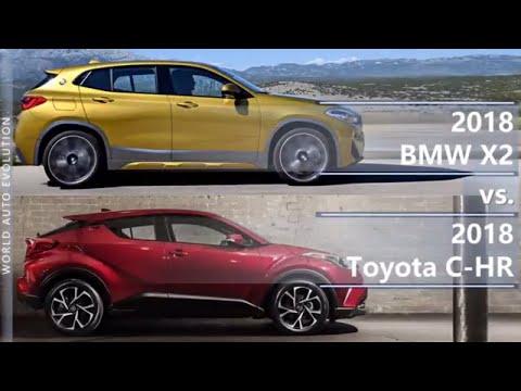 2018 BMW X2 vs 2018 Toyota C-HR (technical comparison)