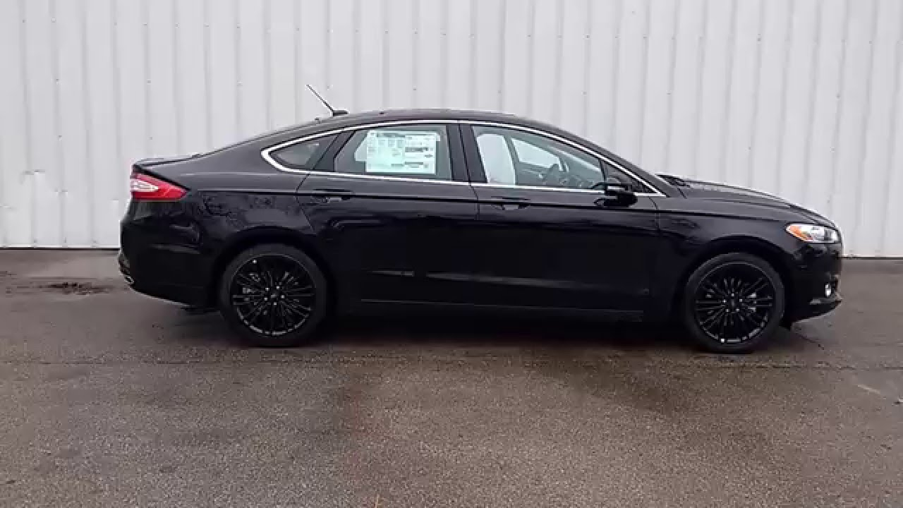 Shadow Black 2016 Fusion Se Fwd 2 0l 202a Moonroof Mft Nav Wheels Driver Ist Marshall Ford