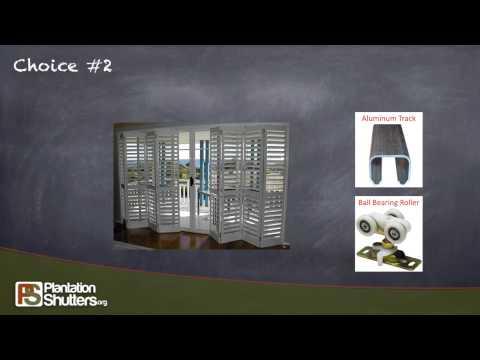 Sliding Glass Door Shutters -- info by Plantation Shutters