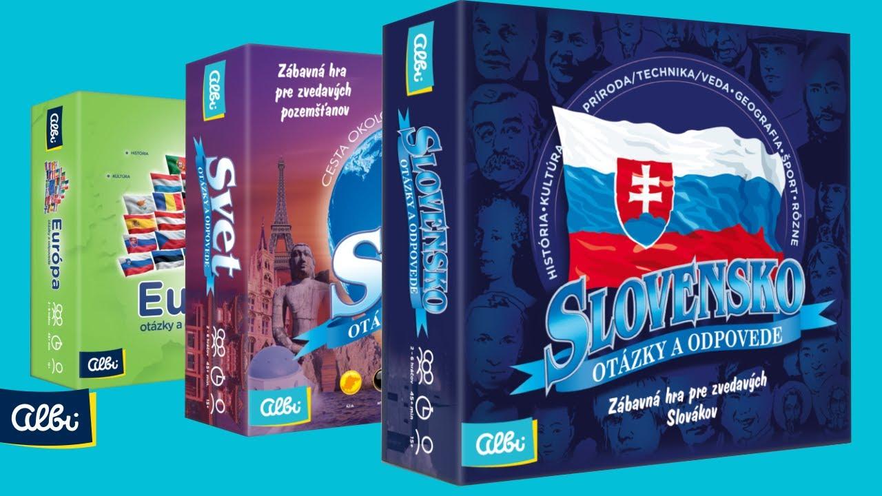 3260793f0 Spoločenské hry: Slovensko - otázky a odpovede (Albi) | Martinus
