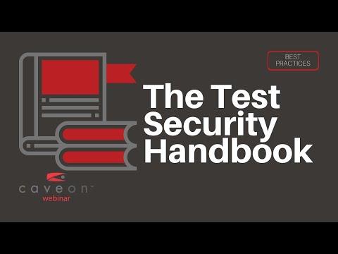 "Caveon Webinar - ""The Handbook of Test Security"""