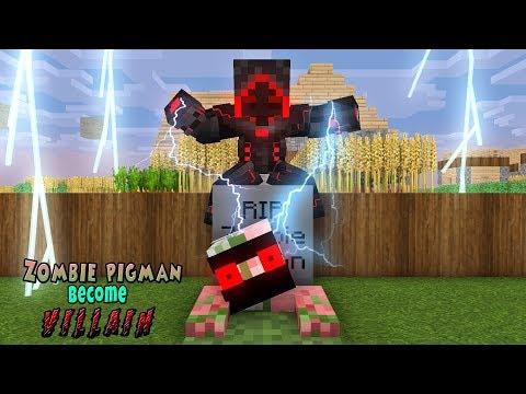 Monster School | Zombie Pigman BECAME VILLAIN EVIL RIP | Monster School