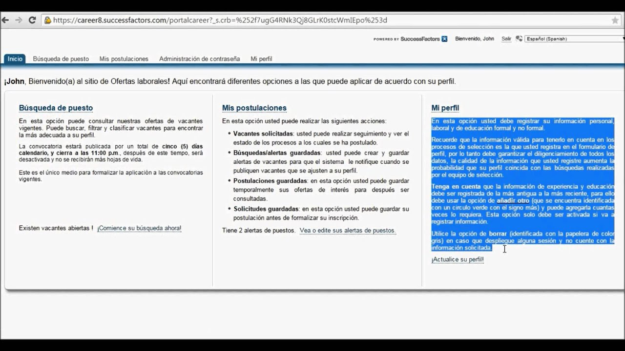 Como Registrar Su Hoja De Vida En El Portal De Empleo Youtube