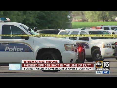 Suspect killed, officer shot in southwest Phoenix