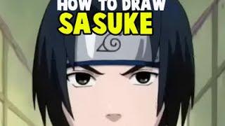 How to Draw Sasuke Uchiha From Naruto.