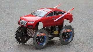 How to make a Cuтter Wheel Car - Powered Car - Car