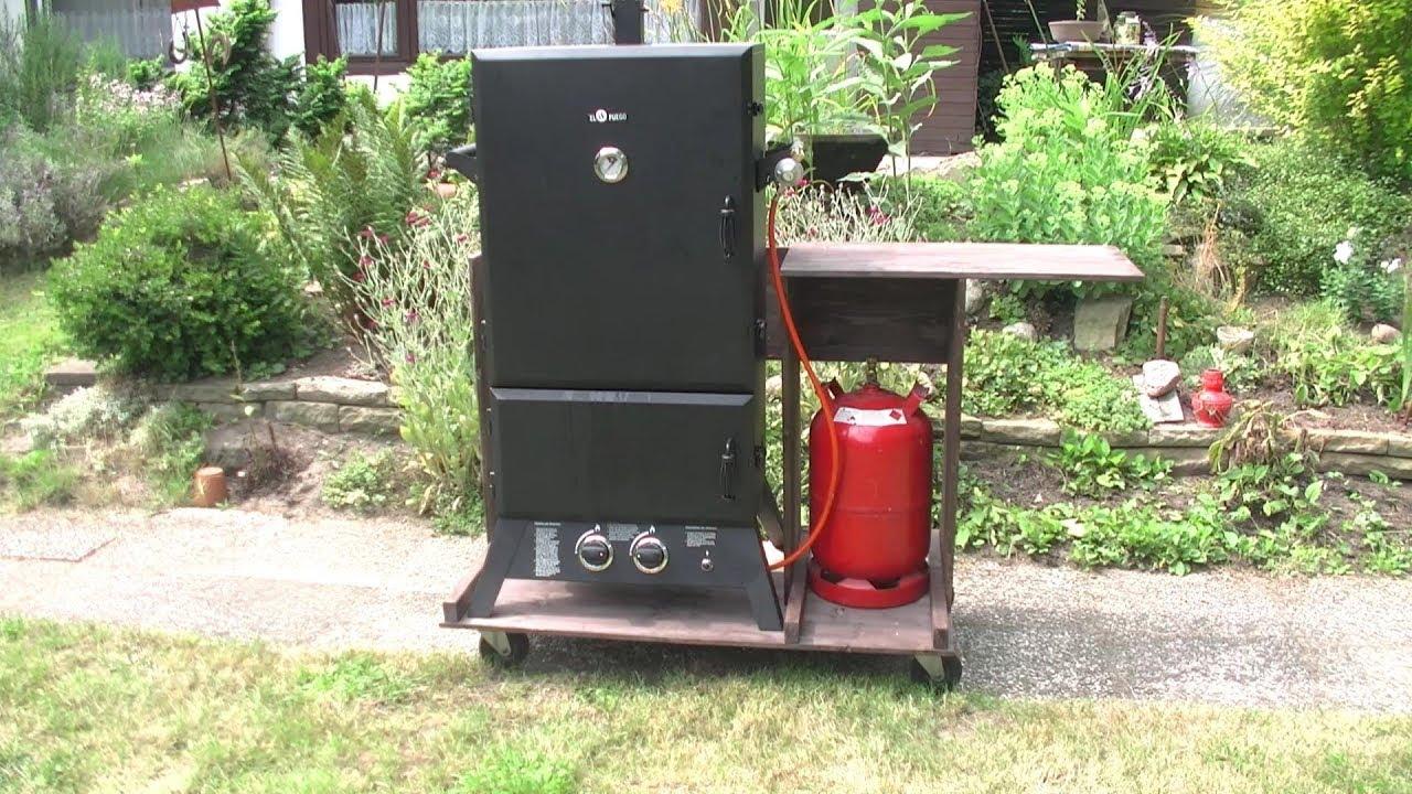 Portable Gas Smoker Cart DIY how to Video