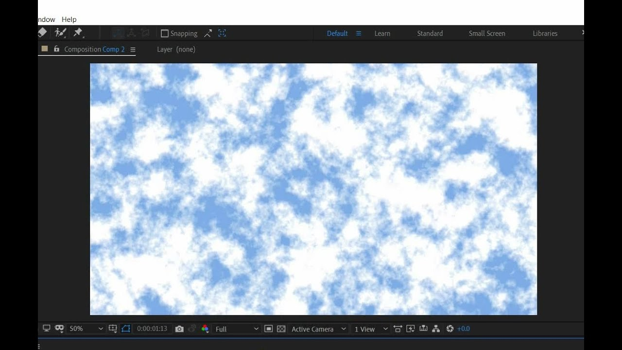 How to create Realistic Procedural Clouds - After Effects Tutorial