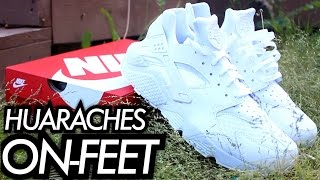 """Triple White"" Nike Huarache W/ On-Feet Review"