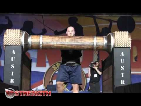 Mike Jenkins Wins event 3 at the Arnold Strongman Classic, the Austrian Oak