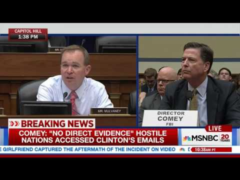 Comey: Asking Clinton why she told Congress and FBI different stories could have helped with intent