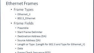 200-120 CCNA Training - Ethernet Frames
