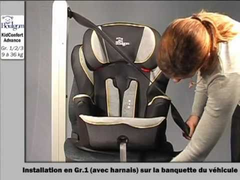 Installation du kidconfort rehausseur groupe 1 2 3 for Siege auto boulgom