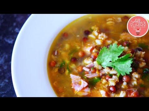 How To Make Latvian Grey Pea Soup | Grey Pea Soup Recipe | Pelēko Zirņu Zupa