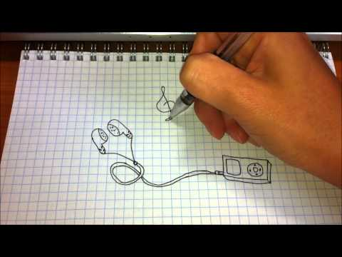 видео: Простые рисунки #127 Плеер музыка=)