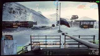 배틀필드4 멀티플레이 영상   화이트아웃 작전에서  BTR-90 플레이
