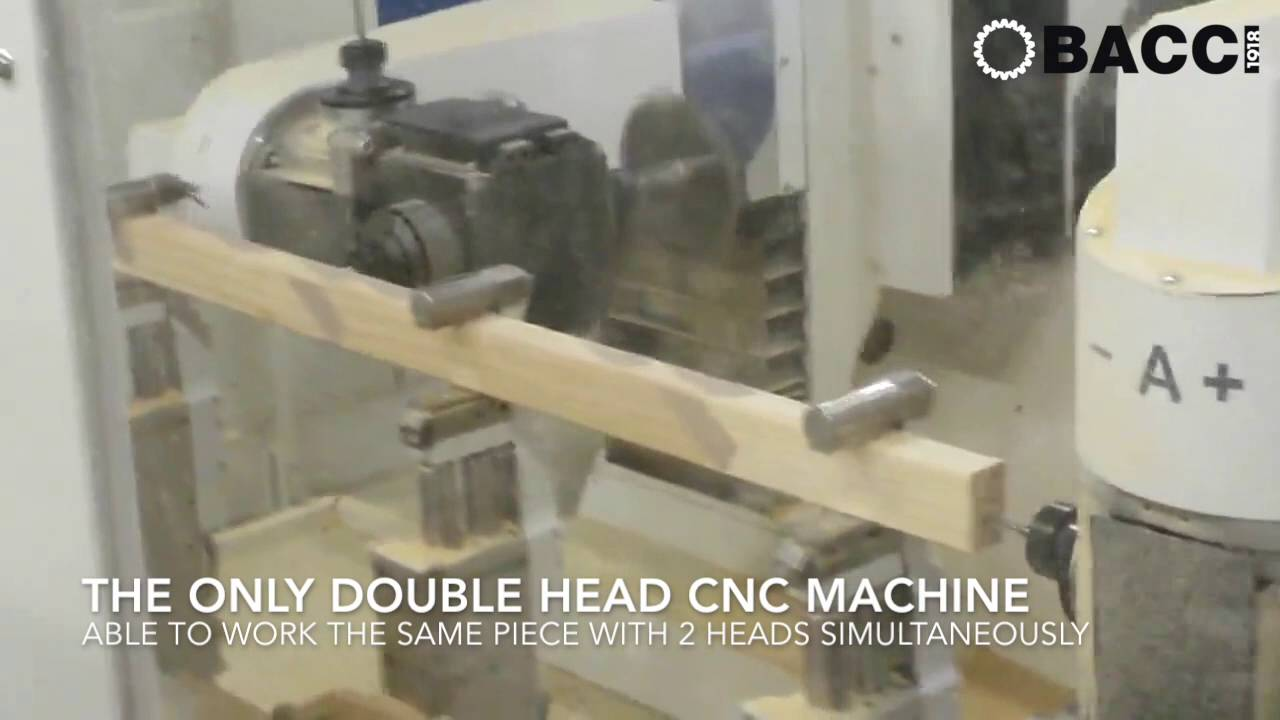 BACCI DOUBLE JET - 12 AXIS CNC MACHINING CENTRE WITH 2 HEADS