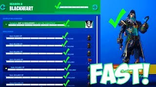 HOW TO UNLOCK MAX LEVEL BLACKHEART SKIN in FORTNITE SEASON 8 (FASTEST WAY TO UNLOCK BLACKHEART)