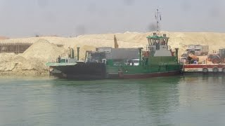 The first video of the new Suez Canal after the removal of all barriers and bridges out