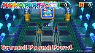 Mario Party 10 - Ground Pound Prowl Minigame Gameplay [ HD ]
