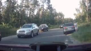 ДТП с участие корреспондента LB.ua: видео Audi Q7  с видеорегистратора после авариии