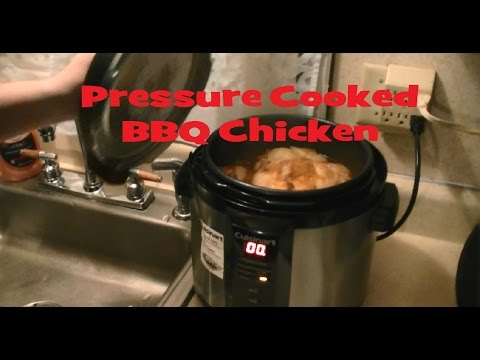 Pressure Cooked Whole Chicken BBQ Flavored Cuisinart Cooker