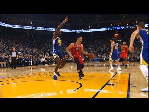 Jeremy Lin gets 4th qtr minutes over Trae Young - 11/14/18 Hawks at Warriors
