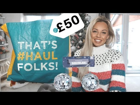 I SPENT £50 IN POUNDLAND! CHRISTMAS/DECEMBER POUNDLAND HAUL | Lucy Jessica Carter