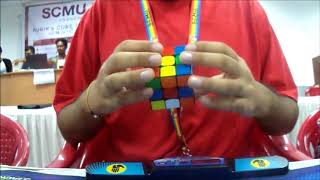 9.27 official Rubik's Cube average - SCMU 2017 Finals (2nd place with Mats Valk)