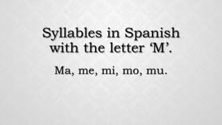 How to pronounce syllables with the letter