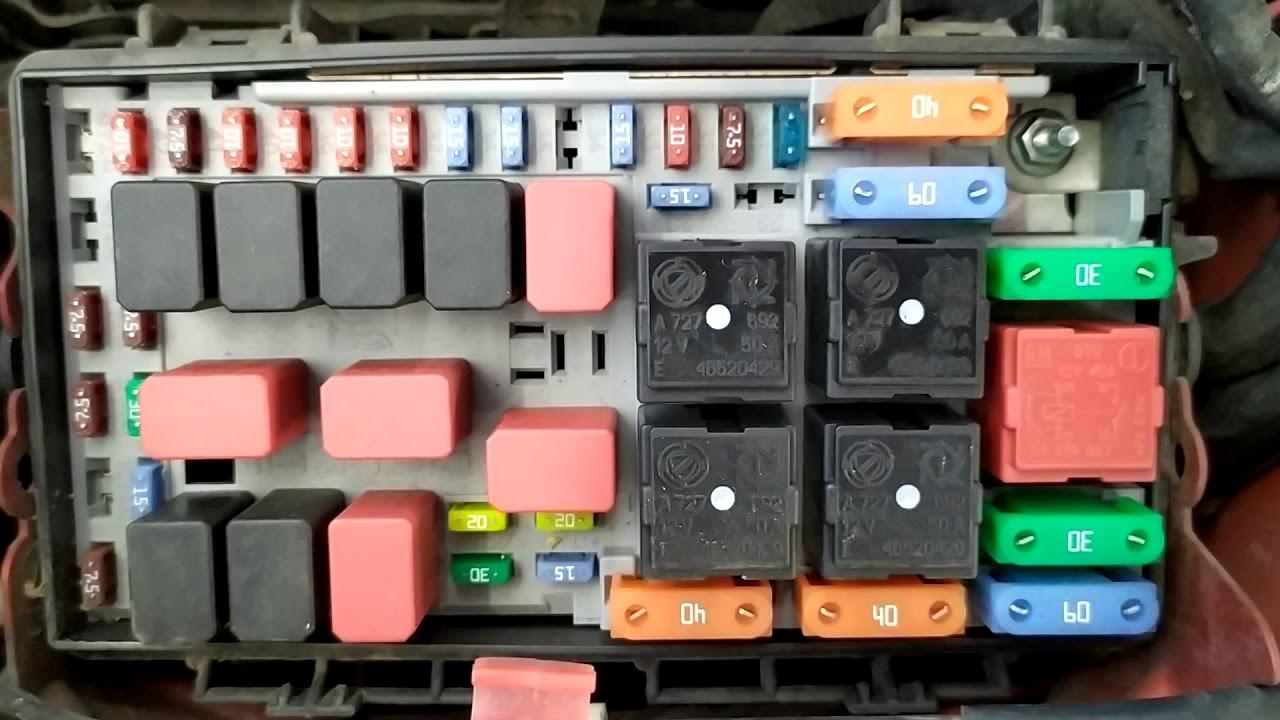 Fiat Punto 1 3 2006 Obd2 Diagnostic Port And Fuse Box Local