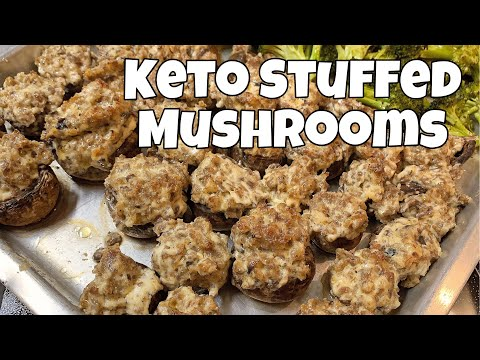 Three Ingredient Keto Stuffed Mushrooms | Quick, Easy & CHEAP Recipe!