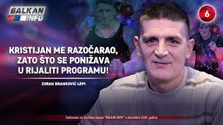 INTERVJU: Zoran Branković - Kristijan me razočarao, zato što se ponižava u rijalitiju! (28.12.2020)
