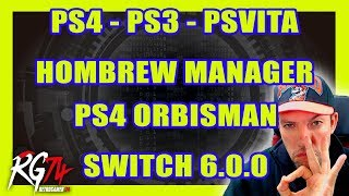 PS4, PS3, PSVITA HOMEBREW MANAGER - PS4 OrbisMAN - Switch XCI Instalador