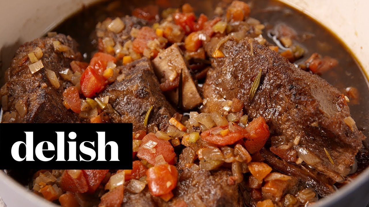 Coffee Braised Short Ribs | Delish + Krups - YouTube